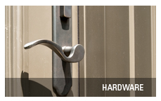 Entrance door hardware