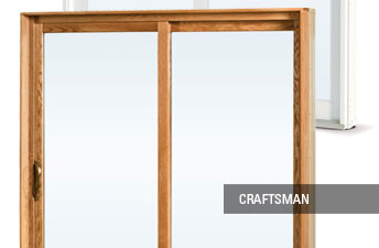 Craftsman patio door details
