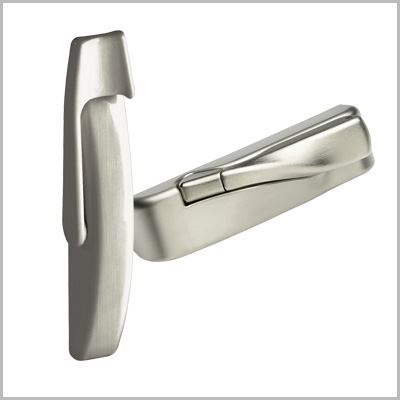 Window hardware brushed nickel finish