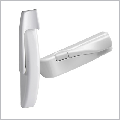 Window hardware white finish