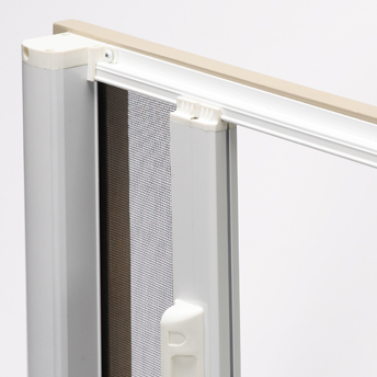 Hide-away screen for patio door