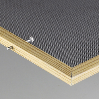 Pin retention wood screen for wood windows