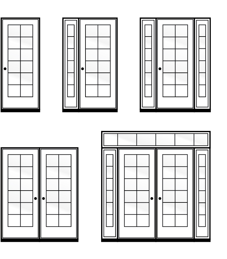 Entrance door configurations