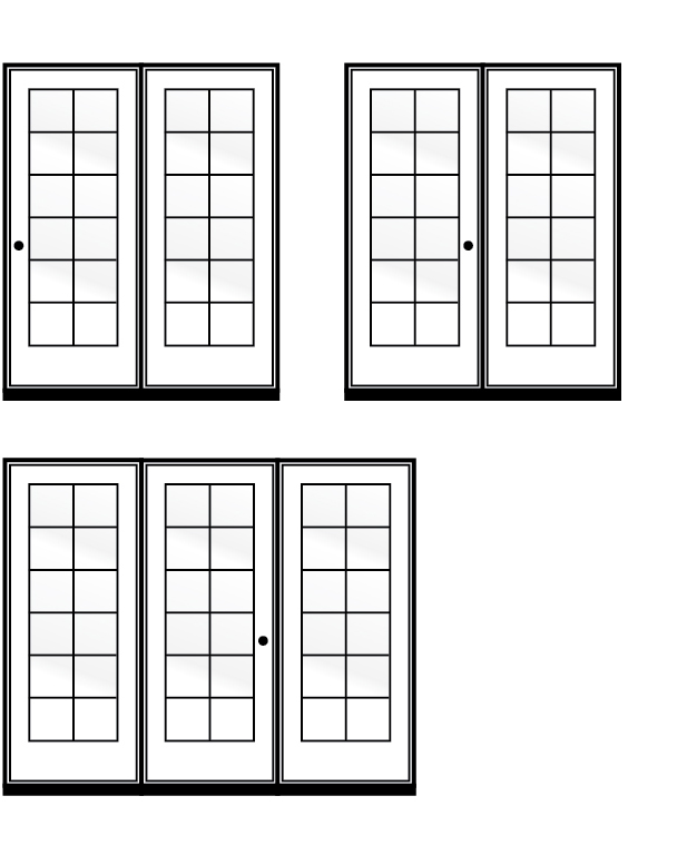 Terrace door configurations