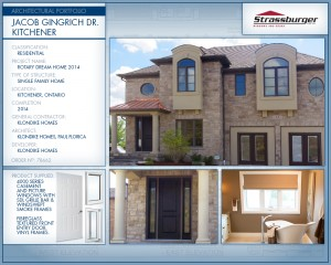 Rotary Dream Home installation, using 4000 Series Casement and PIcture windows and fibreglass textured front entry door