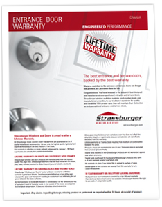 Canadian Entrance Door Warranty