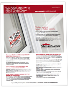 US Window and Patio Door Warranty