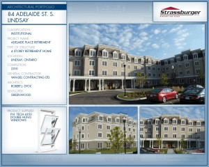 Lindsay Retirement residence installation, using 4350 Double Hung windows