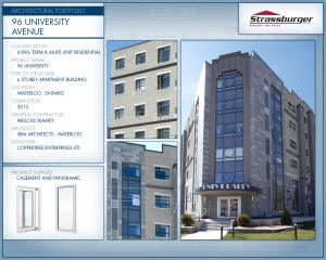 University Ave Appartments installation, using Casement and Panoramic windows