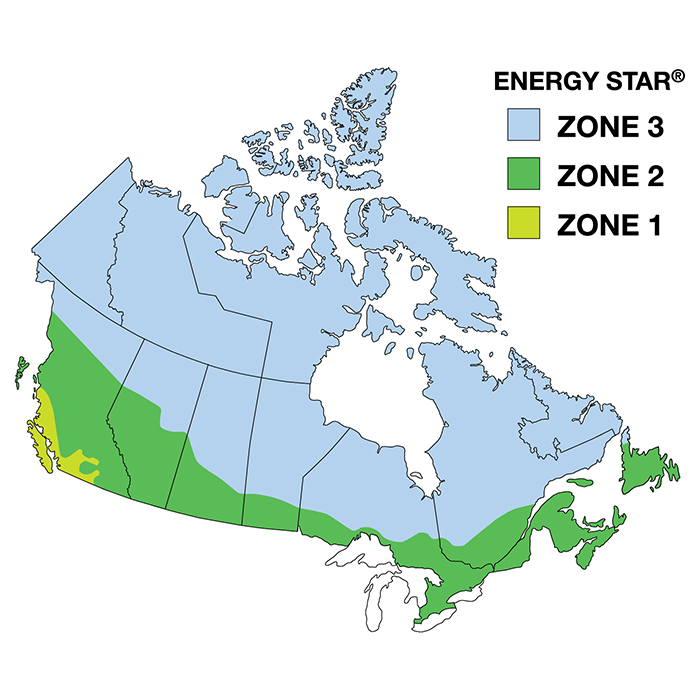 Energy zone map