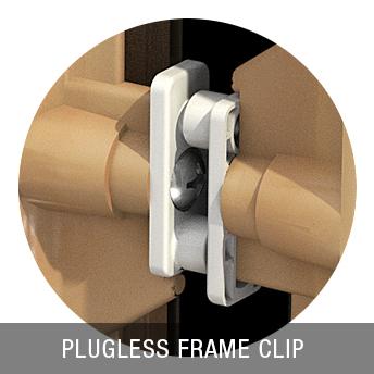MasterGrain plugless frame detail
