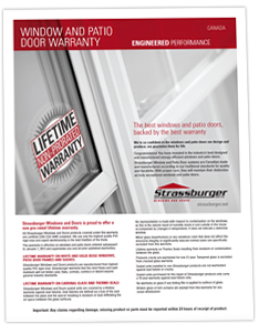 Canadian Window and Patio Door Warranty