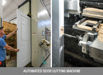 Door cutting machine