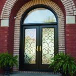 Entrance door - black double door installation