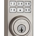 Smart Key deadbolt - Contemporary Satin Nickel