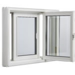 3600 Tilt Double Slider window inside open