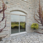 Patio door installation exterior