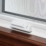Casement window handle closed