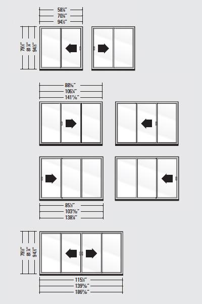 Patio Door Systems Strassburger Windows, How Big Is A Standard Sliding Patio Door